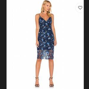 NWT Bardot Sapphire Midi Dress in Floral XS
